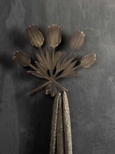 Bouquet appendino, Appendiabiti da parete in metallo, in stile moderno