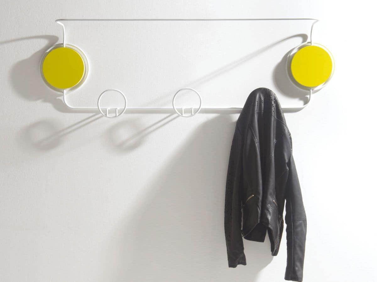 Doppio, Appendiabiti moderno in metallo, per ambienti residenziali