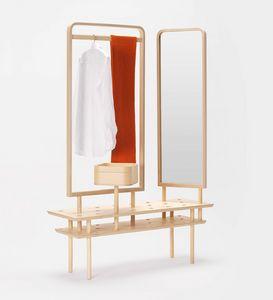 Etta wardrobe, Mobile portaabiti, con specchio