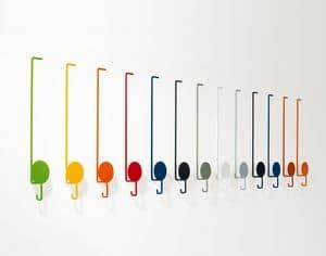 Sun, Appendiabiti colorati, in metallo laccato, per ambienti moderni
