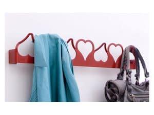 Valentina appendino, Appendiabiti in metallo, forma di cuore, stile moderno