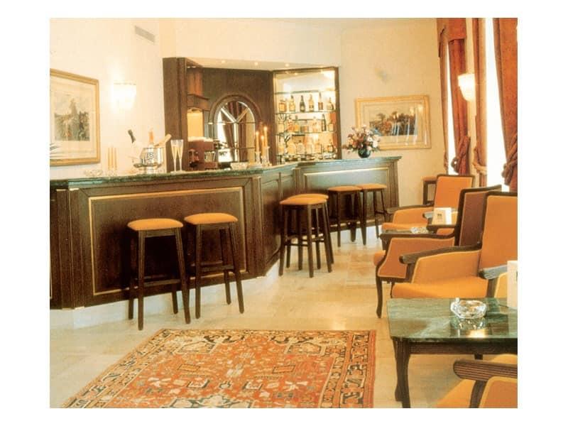 Collezione Kasteel Solhof, Bancone bar realizzato su misura, piano bancone in marmo