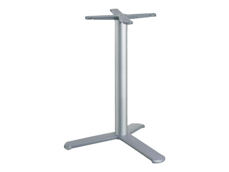 3 ped base h 115 cod. BGA3L, Base tavolo per bar, con colonna in alluminio