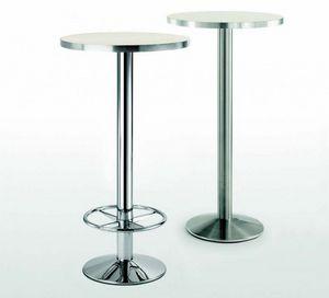 4154R, Base da tavolo in metallo con poggiapiedi