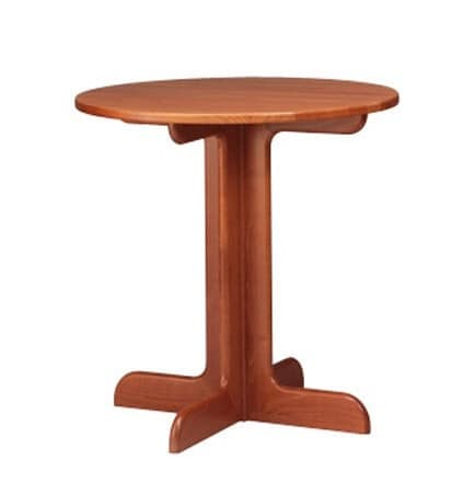 602, Tavolino rotondo in faggio, base a croce, per pub e bar