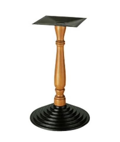 907, Supporto per tavolino, colonna lavorata in legno, per bar