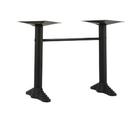 910, Basi per tavolino da bar, con 2 colonne in metallo