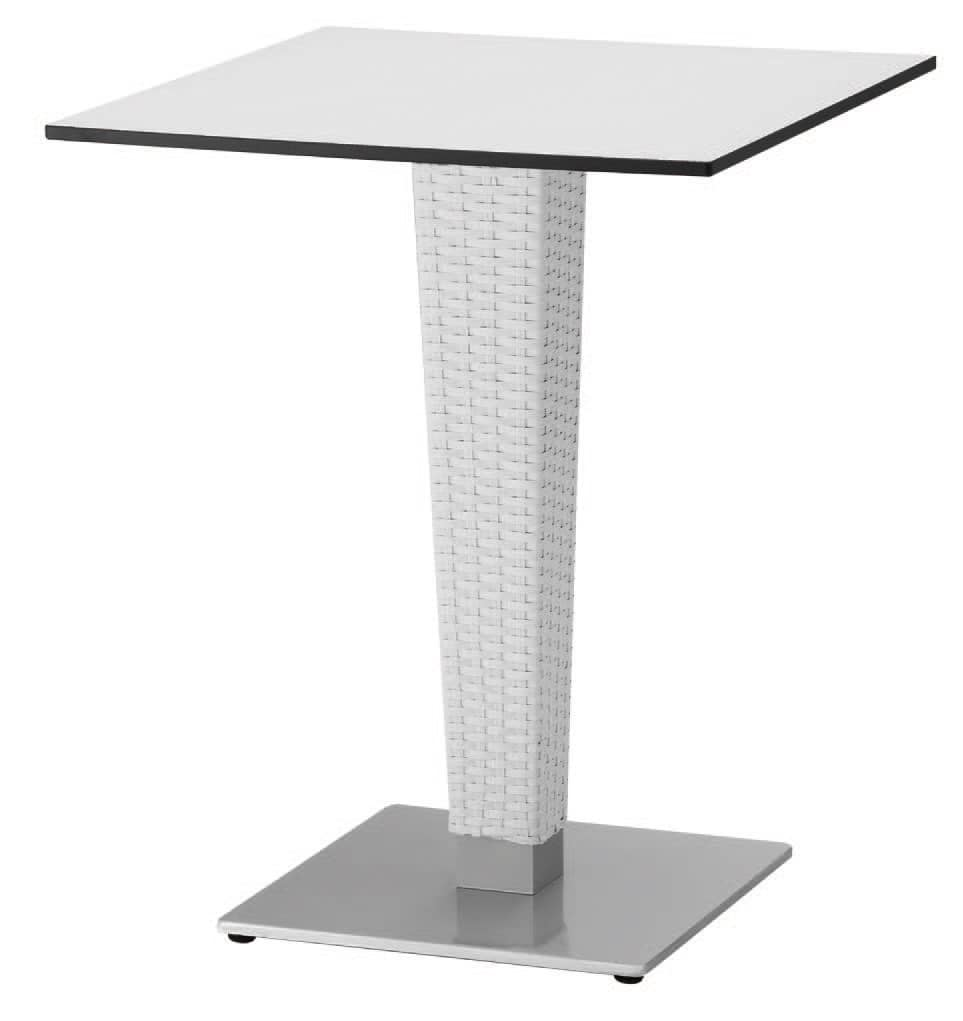 FT 2027, Base intrecciata per tavolino, in ghisa e alluminio