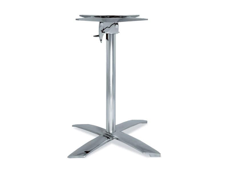 FT 710, Base pieghevole per tavolino, in alluminio, per caffè