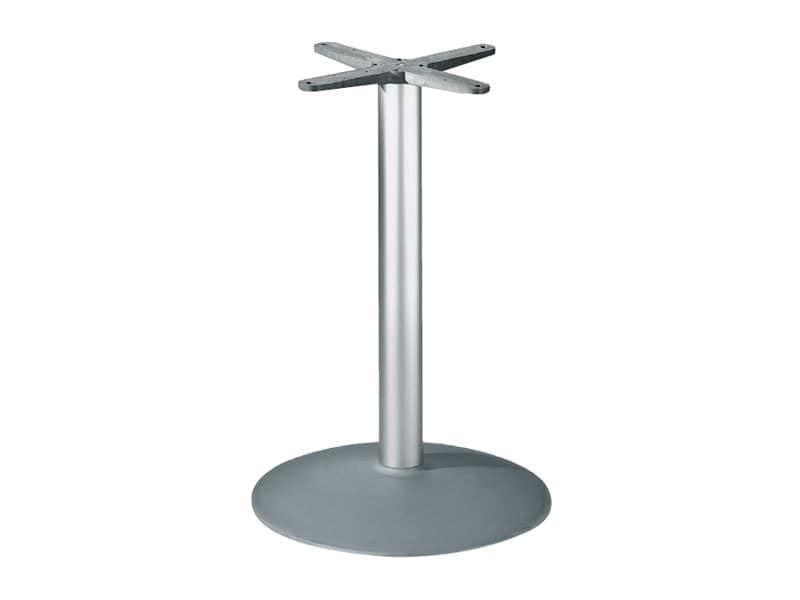 Round base h 115 cod. BTAK54, Base rotonda per tavolo, in alluminio