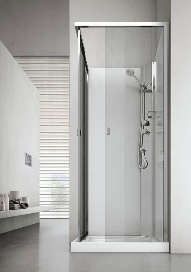 Box doccia con seduta, in cristallo, per bagno moderno  IDFdesign