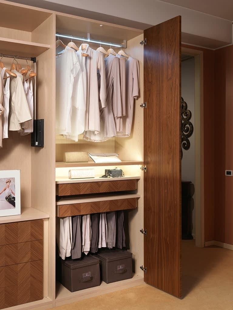 AR25 Desyo armadio, Cabina armadio modulare, con ripiani, armadi e cassetti