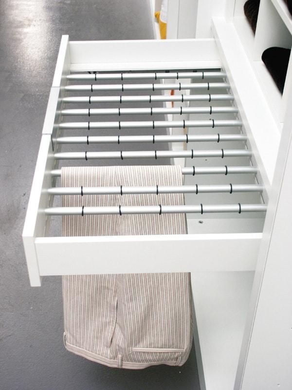 ATLANTE cabina armadio comp.02, Cabina guardaroba con mensole e porte in cristallo