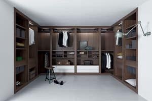 Cabina armadio Sipario, Sistema armadi modulare, accurate finiture