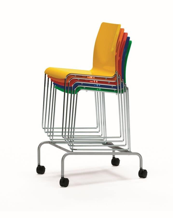 Carrello per stoccaggio e movimentazione sedie, ideale per ...