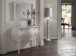 Art. 418 Com�, Com� in stile classico, laccato bianco