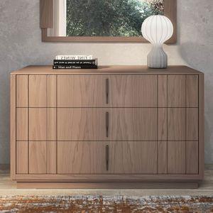 Nova NOVA1301T, Comò moderno in legno con zoccolo