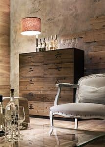 XIAN wood, Mobile con 10 cassetti, in legno, in stile cinese