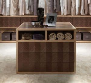 AR25B Desyo armadio, Cassettiera per cabina armadio, per alberghi e ville
