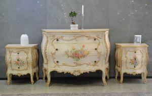 Art. 621, Com� e comodini outlet, in stile provenzale floreale