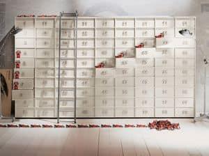 TOOLBOX comp.04, Contenitore componibile a cassetti per la casa e ufficio