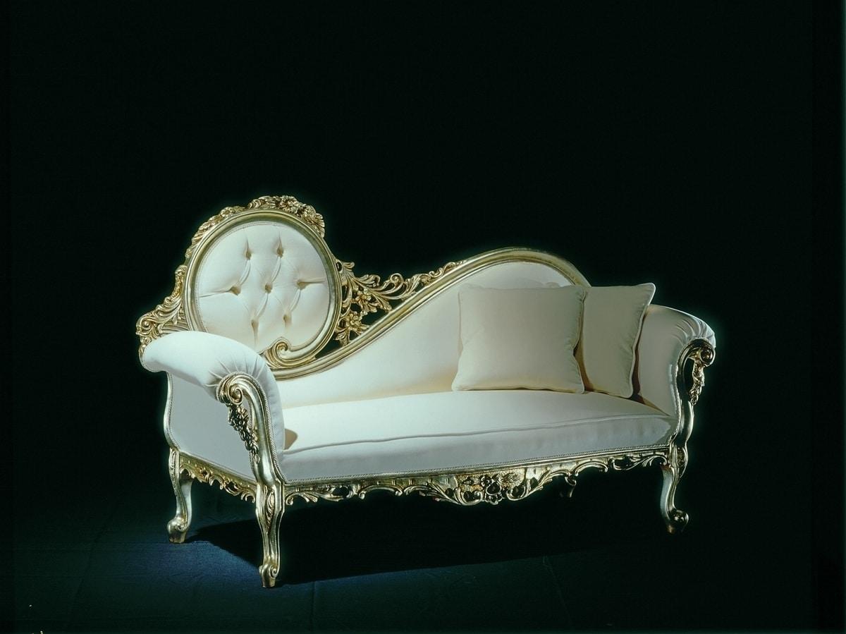 Montet tessuto, Elegante e raffinata dormeuse, in stile classico barocco