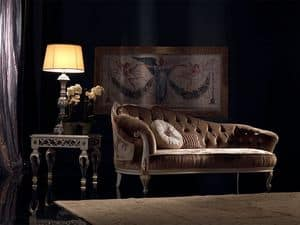 Paolina, Chaise longue classico di lusso, capitonn�, per reception