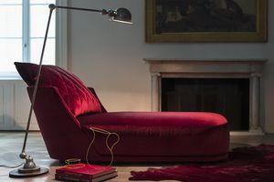 Grace, Chaise longue con linea arrotondata e romantica