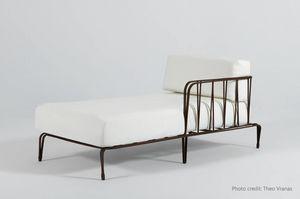 MARINA GF4029BE, Chaise longue in ferro forgiato