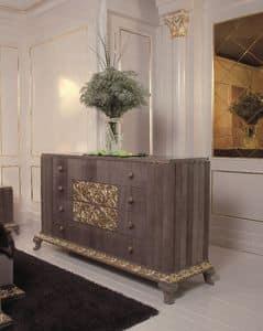 Art. 114, Com� con 4 cassetti con finiture in oro, classico di lusso