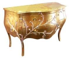 Art. 1603 Jasmine, Comò classico, finiture a foglia oro, per suite d'albergo
