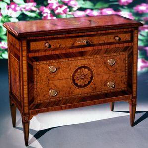 Art. 203 Rosone, Comò in legno, con decori classici