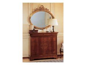 Art. 279 com� '800 Francese Luigi Filippo, Com� in legno, lavorato a mano, per villa storica