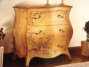 Art. 902, Comò patinato antico con decorazioni, stile classico