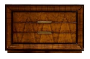 D'Orsay CH.0551, Com� in legno di noce, con 3 cassetti, in stile classico