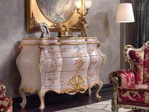 Marie Claire cassettiera, Cassettiera dipinta a mano
