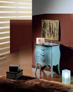 Arcobaleno comodino, Comodino in legno laccato