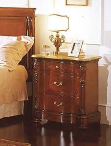 Canova comodino, Comodino con piano Giallo Reale, per alberghi lussuosi
