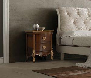 Li� noce comodino, Comodino in legno, con dettagli oro