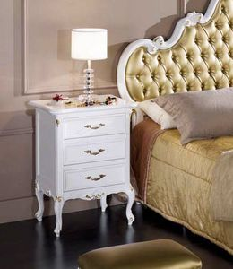 Perla comodino, Elegante comodino laccato bianco