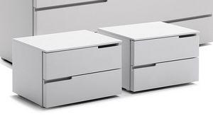 BLOOM comodino, Comodino design con due cassetti