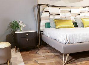 LAPETO comodino GEA Collection, Comodino in legno di noce canaletto, con piano in marmo