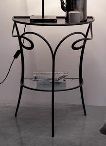 Minuetto, Tavolino / comodino in ferro e cristallo