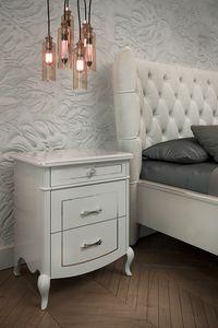 Prestige 2 Art. 5306, Comodino in legno laccato bianco