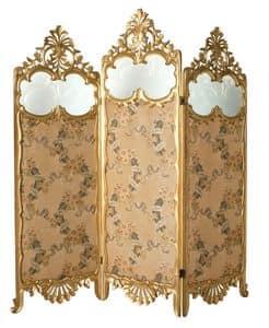 PARAVENTO CLASSICO ART.AC 0025, Paravento in stile veneziano in legno intagliato a mano