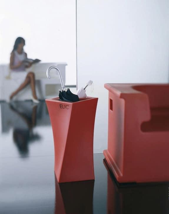 Elic, Portaombrelli design, in polietilene, per la casa o l'ufficio