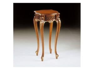 Art. 905, Tavolino per lampada, classico di lusso, finitura in noce