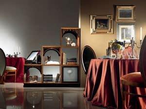 DV01 Dandy divano, Divisorio componibile in legno, classico di lusso