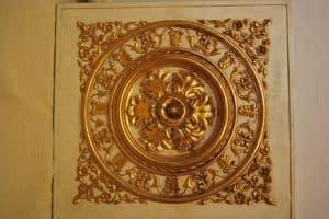 SOFFITTO PANNELLO DECORATIVO ART. AC 0032, Pannello decorativo dorato, per ville di lusso