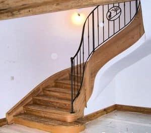 Scale in ferro e legno, Scale in ferro e legno, in stile classico